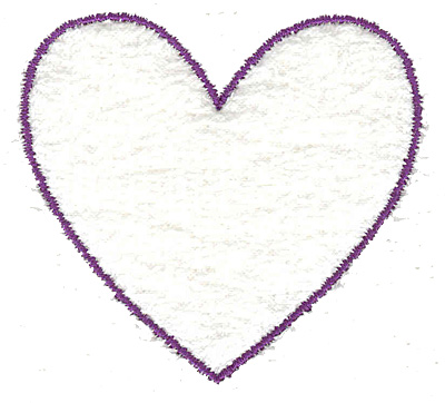 Embroidery Design: Heart outline small 2.49w X 2.32h