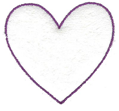 Embroidery Design: Heart outline large 3.19w X 2.97h