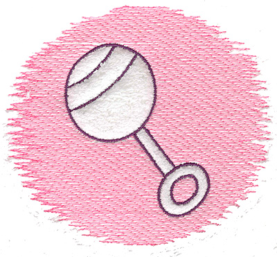 Embroidery Design: Trapunto rattle large 4.98w X 4.39h