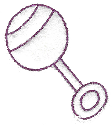 Embroidery Design: Rattle outline large 2.75w X 3.23h