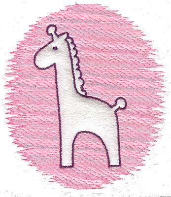 Embroidery Design: Trapunto giraffe large 4.39w X 4.99h
