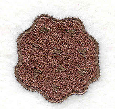 Embroidery Design: Chocolate chip cookie 1.21w X 1.25h
