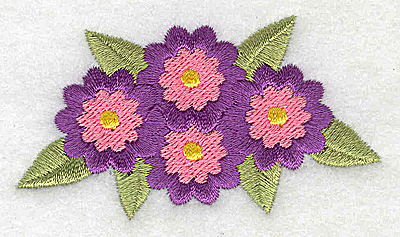 Embroidery Design: Flowers 3.01w X 1.63h