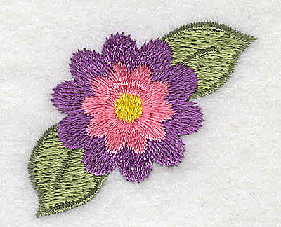 Embroidery Design: Single flower 1.72w X 1.51h