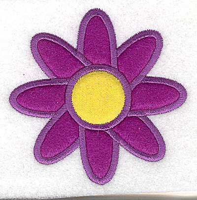Embroidery Design: Flower double applique 3.44w X 3.44h