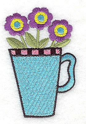 Embroidery Design: Three flowers in a mug 1.86w X 2.92h