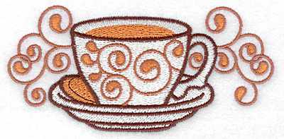Embroidery Design: Teacup large 4.97w X 2.39h