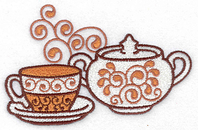 Embroidery Design: Teacup and sugar bowl large4.97w X 3.21h