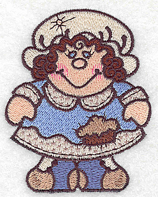 Embroidery Design: Pilgrim wife small 2.83w X 3.56h