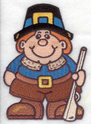 Embroidery Design: Pilgrim large 3.58w X 4.96h