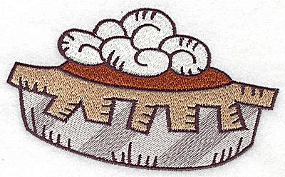Embroidery Design: Pumpkin pie large 4.95w X 3.01h