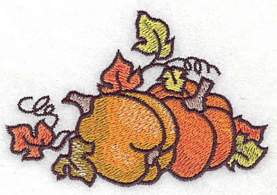 Embroidery Design: Pumpkins 3.88w X 2.64h