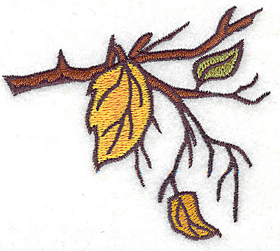 Embroidery Design: Branch with leaves small 3.52w X 3.10h