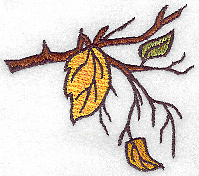 Embroidery Design: Branch with leaves large 4.57w X 4.03h