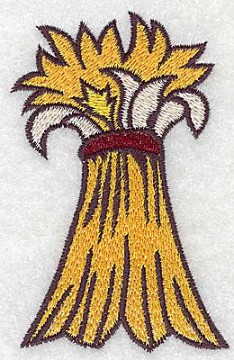 Embroidery Design: Bale of wheat 2.43w X 3.78h