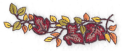 Embroidery Design: Fall leaves 1.42w X 3.82h