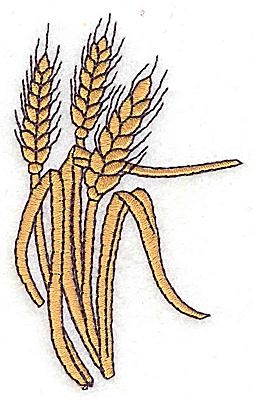 Embroidery Design: Wheat 2.02w X 3.29h