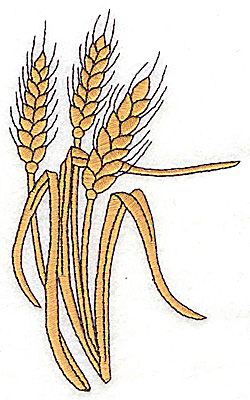 Embroidery Design: Wheat large 2.99w X 4.99h