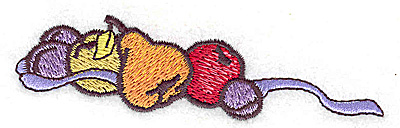 Embroidery Design: Fruit 3.89w X 1.04h