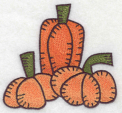 Embroidery Design: Pumpkin trio 3.67w X 3.40h