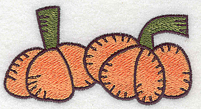 Embroidery Design: Pumpkin duo 3.67w X 1.89h