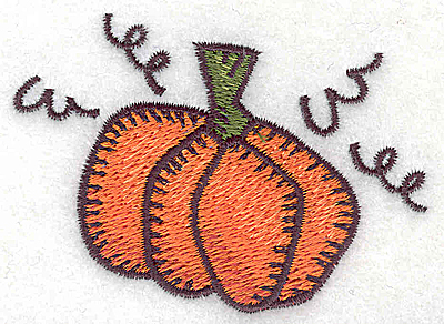 Embroidery Design: Single pumpkin small 2.93w X 2.11h