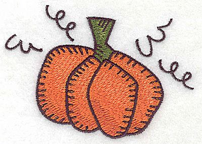 Embroidery Design: Single pumpkin large 3.88w X 2.77h