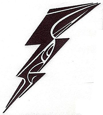 Embroidery Design: Tribal Motif Lightning Bolt large 6.57w X 6.96h