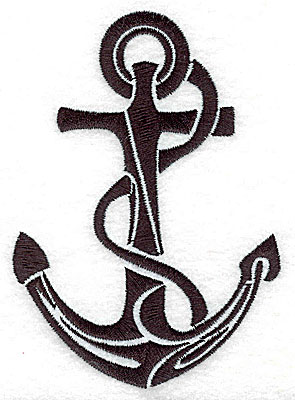 Embroidery Design: Tribal Motif Anchor with rope medium 3.54w X 4.95h