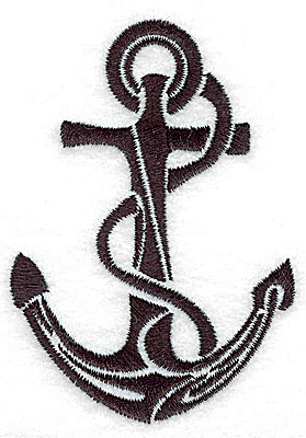 Embroidery Design: Tribal Motif Anchor with rope small 2.50w X 3.51h