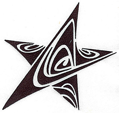 Embroidery Design: Tribal Motif Star large 6.76w X 6.94h