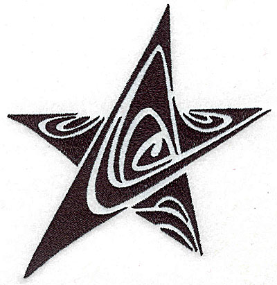 Embroidery Design: Tribal Motif Star medium 4.66w X 4.79h