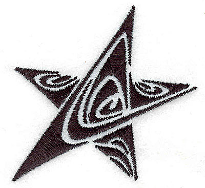 Embroidery Design: Tribal Motif Star small 2.94w X 2.99h