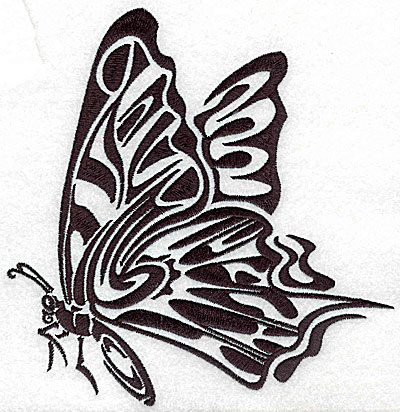Embroidery Design: Tribal Motif Butterfly large 6.76w X 6.93h