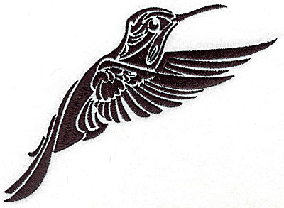 Embroidery Design: Tribal Motif Humming bird large 6.15w X 4.99h