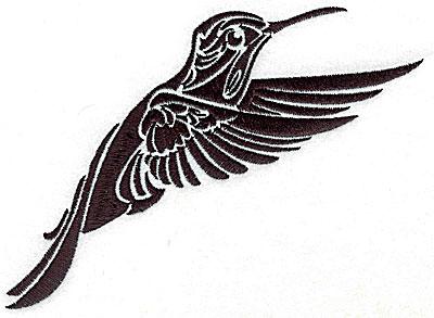 Embroidery Design: Tribal Motif Humming bird large 6.15w X 4.99h