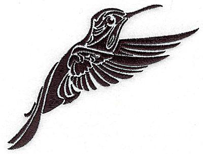 Embroidery Design: Tribal Motif Humming bird medium 4.96w X 4.04h