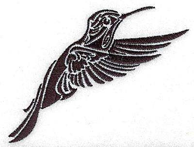 Embroidery Design: Tribal Motif Humming bird small 3.86w X 3.12h