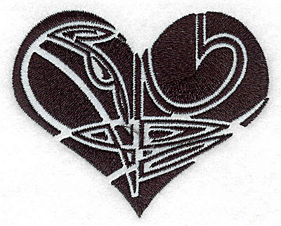 Embroidery Design: Tribal Motif Heart medium 3.88w X 3.12h