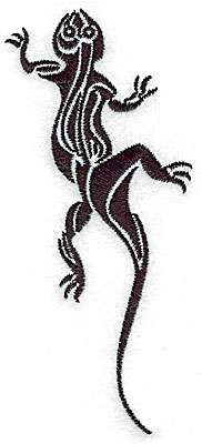 Embroidery Design: Tribal Motif Lizard medium 2.18w X 4.98h