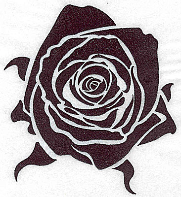 Embroidery Design: Tribal Motif Rose large 6.15w X 6.93h