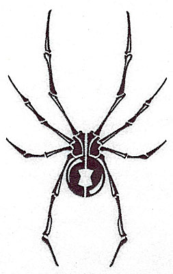 Embroidery Design: Tribal Motif Spider large 4.36w X 6.95h