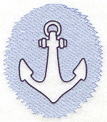 Embroidery Design: Anchor Trapunto small 3.48w X 3.89h