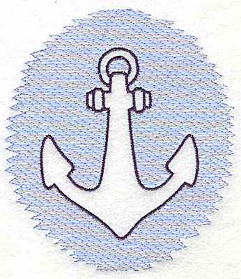Embroidery Design: Anchor Trapunto large 4.46w X 4.99h