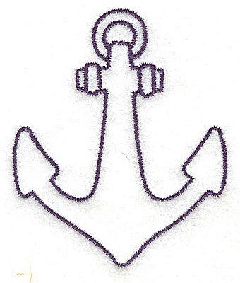 Embroidery Design: Anchor outline small 2.39w X 2.89h