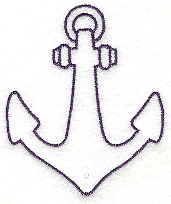 Embroidery Design: Anchor outline large 3.06w X 3.70h