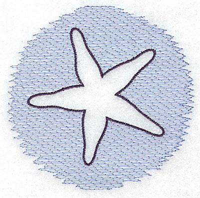 Embroidery Design: Starfish Trapunto small 3.89w X 3.77h