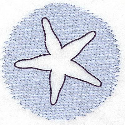 Embroidery Design: Starfish Trapunto large 4.94w X 4.79h