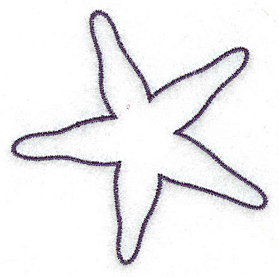 Embroidery Design: Starfish outline small 2.85w X 2.87h