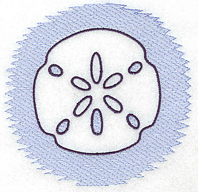 Embroidery Design: Sand Dollar Trapunto large 4.95w X 4.81h